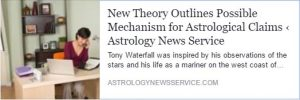 New Theory Outlines Possible Mechanism for Astrological Claims - Astrology Article
